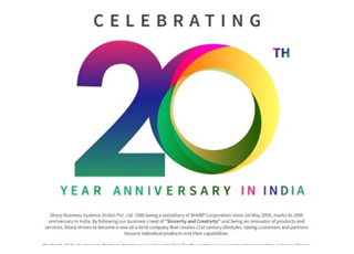 SHARP CELEBRATED COMPLETION OF 2 DECADES IN INDIA
